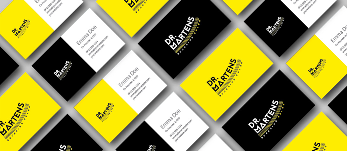 Business card ideas: the Dr. Martens example
