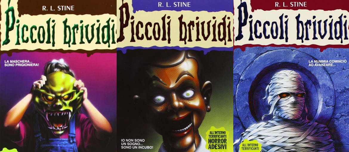 "Some covers of ""Piccoli Brividi"". Books published by Mondadori in Italy. All rights reserved."