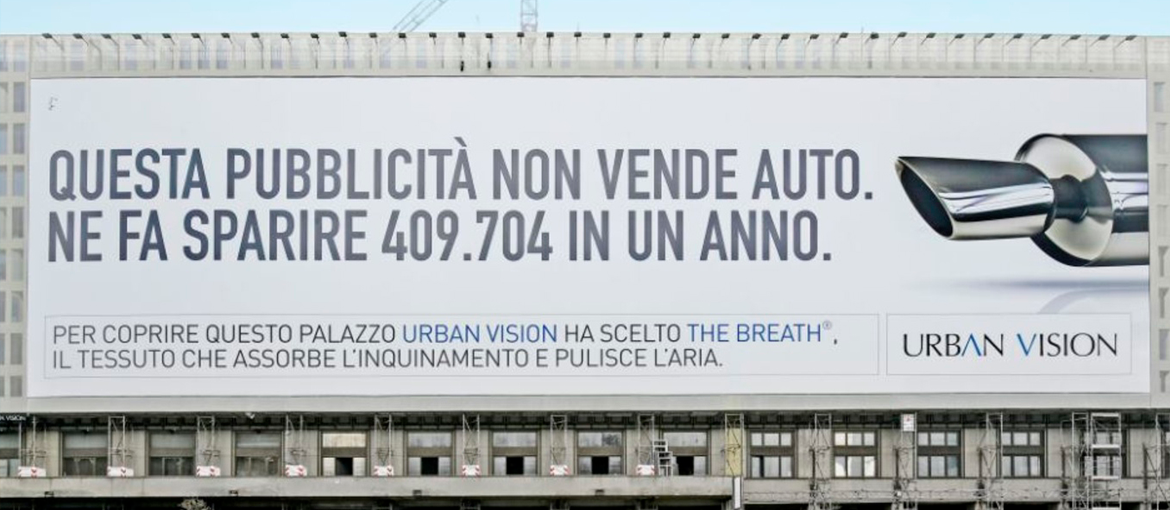 "Billboards, posters and paintings that ""eat"" smog"