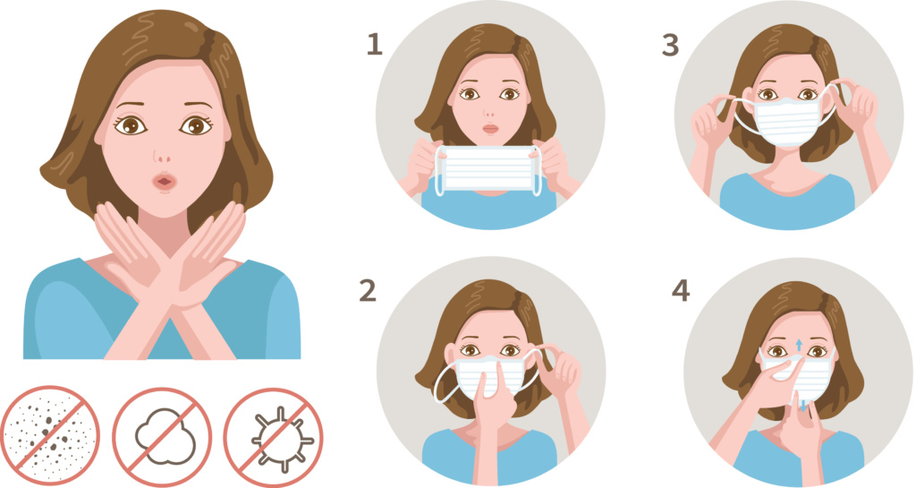 How to wear a mask safely